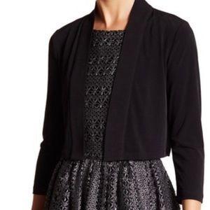 Calvin Klein Knit Shawl Collar Shrug